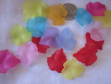 50 Acrylic Leaf Beads 25x23mm Mixed Colours #a3041 Combine Post-See Listing