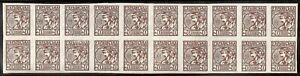 Ukraine 1918 National Republic 20 Shahiv  Mint No Hinge Block of 20