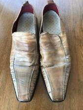 HUGO BOSS MEN'S LEATHER SHOES LOAFERS SIZE 10.5 MADE IN ITALY