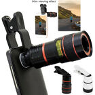 Clip-on 8X/12x Optical Zoom HD Telescope Camera Lens for Universal Mobile Phone