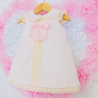 *SALE* Gorgeous Wee Me Baby Girl Pink Spanish Collar Dress Bow Lace Detail