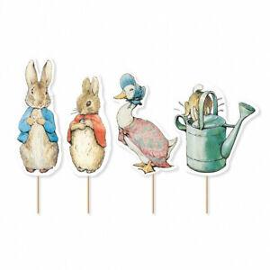 12 Peter Rabbit™ Classic Characters Cupcake Picks Birthday Cake Decorations