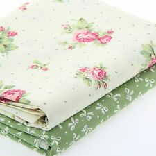 2pcs 50cm*40cm Baby Clothes Patchwork 100% Cotton  Fabric Flower Printed