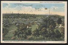 Postcard CHATTANOOGA TN  Cantonment Camp Barracks Housing Aerial view 1910's