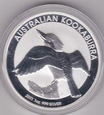 2011 AUSTRALIA SILVER ONE OUNCE KOOKABURRA IN A CAPSULE