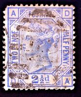 CatalinaStamps: Great Britain Stamp #82 Used Plate 22, SCV=$40, #A-2