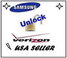 VERIZON Unlock Service - Samsung Galaxy HTC LG ALL MODELS  - SUPER FAST