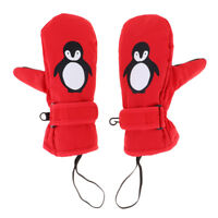 Winter Kids Snow Mittens Waterproof Thermal Ski Gloves for Age 2-12 Boy Girl
