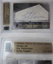 2010 Famous Fabrics Guy Carbonneau 1/1 auto 1 of 1 autograph Montreal Canadiens