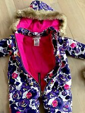Juicy Couture Snowsuit Baby Girls Purple/Pink Floral  #JCMNG185 6-9M NWT