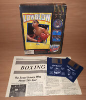 "Low Blow PC Game Vintage Big Box DOS Electronic Arts 1990 3.5"" Floppy Disk"