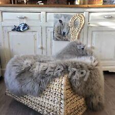 Genuine Grey Vole Sheepskin Rug Plush UK Seller STUNNING Gray Pelt SALE!