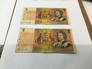 $1 Commonwealth Of Australia Bank Note Coombs And Wilson