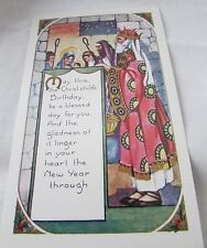 Vintage/Antique Christmas & New Year Holiday Postcard Unused 3 1/2 X 5 1/2