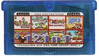 12 in 1 GameBoy advance GBA Video Game - multi cart - Classic 90th