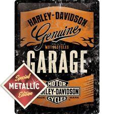 Blechschild 63304 - Harley-Davidson Garage - Metallic Edition - 30X40 cm - Neu