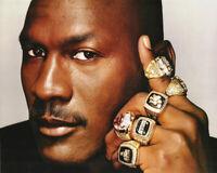Basketball Michael Jordan 6 of his championship rings Photo Picture