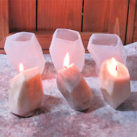 3D Geometric Stone Shape Candle Mold DIY Silicone Mould Aroma Plaster Craft Mold
