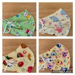 Small Face Coverings - Child Up To 13yrs - Adjustable Elastic - Machine Washable