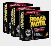 6 Traps Black Flag ROACH MOTEL Glue Trap Insect Pest Control Spider Bugs Cricket