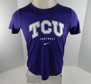 Texas Christian Univeristy TCU Women's Football Purple T-Shirt Nike New