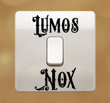 2 Lots of Lumos NOX Switch Harry Potter Sticker Decal - Any Colour
