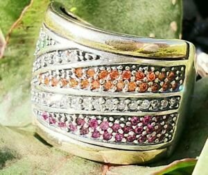 Big Sterling Silver & Gold Ring  SAME DAY SHIPPING
