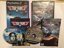 2x Juegos Playstation 2 PS2 Top Gun + + zonas de combate cajas y las instrucciones completas