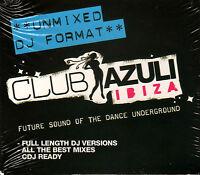 CLUB AZULI IBIZA - UNMIXED DJ FORMAT - NEW SEALED CD