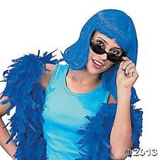 Synthetic Neon Pageboy Wig - Blue
