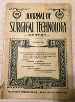 Vintage Journal Of Surgical Technology Monthly October 1900