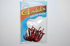 gamakatsu octopus hook size 2/0 red 25 per value pack 02312-25 versatile hooks