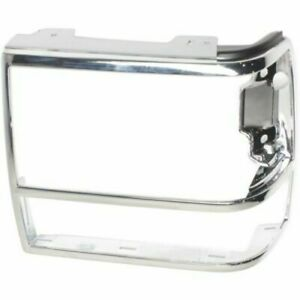 for 1989 1992 Ford Ranger LH Left Drive Headlamp Door Silver With GT Option