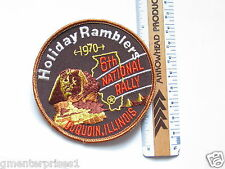 Holiday Ramblers 6th National Rally 1970 Patch (#770)