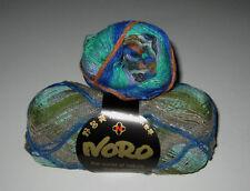 100 gram ball of NORO TAIYO SOCK cotton silk wool yarn #26 Blue Green Orange