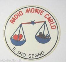 ADESIVO RADIO / Sticker / Autocollant _MONTE CARLO MIO SEGNO ZODIACO BILANCIA