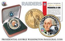 OAKLAND RAIDERS NFL USA Mint PRESIDENTIAL Dollar Coin IN VELVET BOX AND COA*NEW*