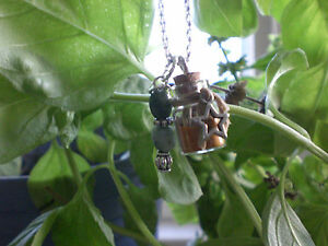 Witch Banishing Spell Bottle Talisman Necklace