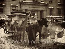 "Alfred Stieglitz Photo  ""The Terminal"" 1893, trolley, horses"