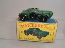 MATCHBOX LESNEY SERIES 61A ARMOURED FERRET SCOUT CAR WITH ITS D TYPE BOX C PICS