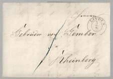 Preußen Vorphila: Brief von Linden (Bez. Arnsberg) nach Rheinberg, voller Inhalt