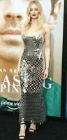 New Paco Rabanne Chainmail Mesh Silver Long Maxi Dress Gown US 2 - 4 / FR 34 36
