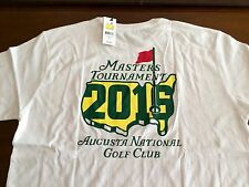 2016 Masters Dated w/ Large Logo Shirt Mens Large White