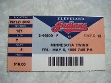 1995 Cleveland Indians vs Minnesota Twins Ticket Stub May 5  WP Charles Nagy