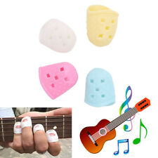 4Pcs Guitar Silicone Finger Picks Protector Thumb Bass Nail Plectrum Comfortable