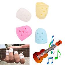4Pcs Guitar Silicone Finger Picks Protector Thumb Bass Nail Plectrum Comfortable