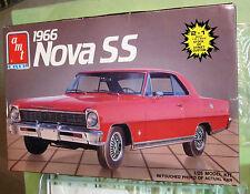 AMT 1966 Chevy Nova SS '87 Issue Unbuilt Kit # 6749 Chevy II 66