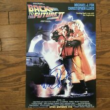 Michael J Fox Signed 11x17 Print Movie Poster Back To The Future 2 Autograph