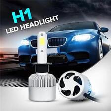 Pair 200W H1 COB Single Beam LED Headlights Bulbs SUV Offroad HID 6500K Xenon