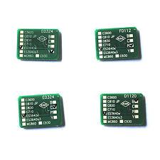 4x Toner Reset Chips for OKI ES3640A3 A3 ES3640 PRO MFP (43837105-43837108)
